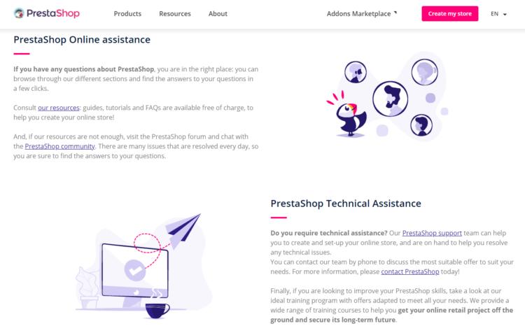 PrestaShop support