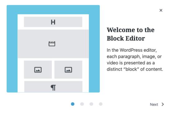 WordPress 5.4 - Welcome Guide, Block Editor