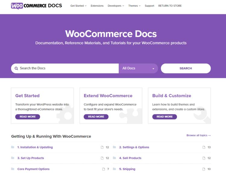 WooCommerce dokumentace