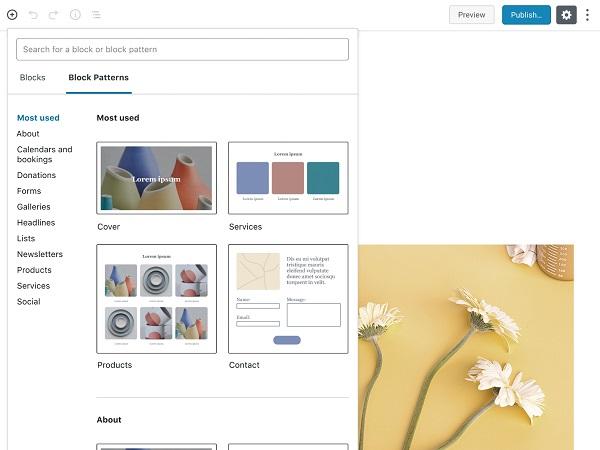 WordPress - Block Patterns