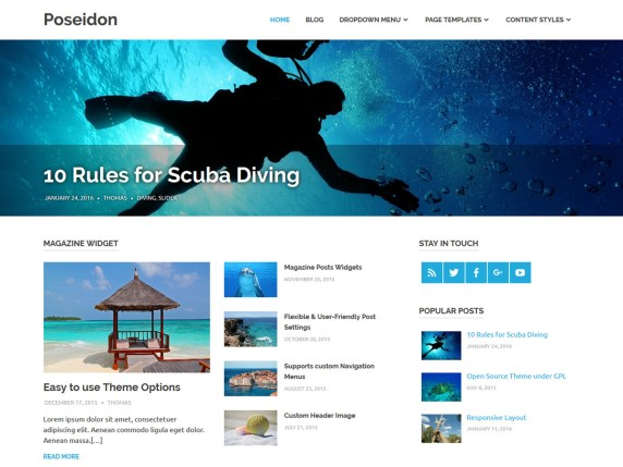 WordPress šablona Poseidon