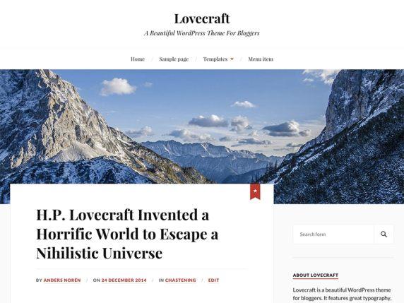 WordPress šablona Lovecraft