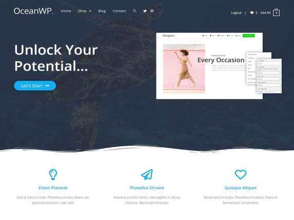 WordPress šablona OceanWP